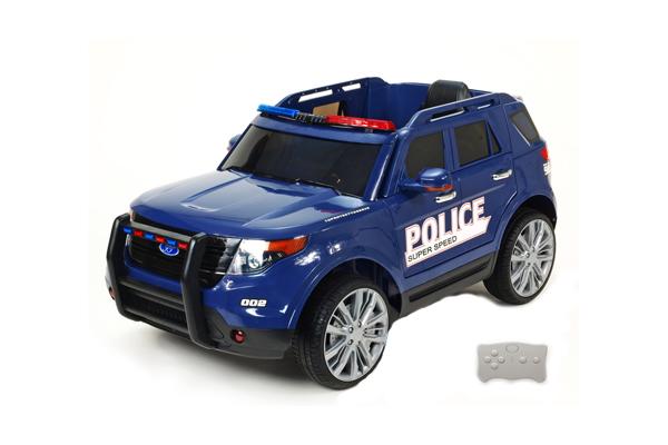 De 4g 12v Eléctrico Policía 2 Coche Azul CotsQhdxrB